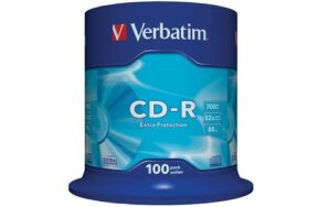 CD-R VERBATIM CAKEBOX 100PCS